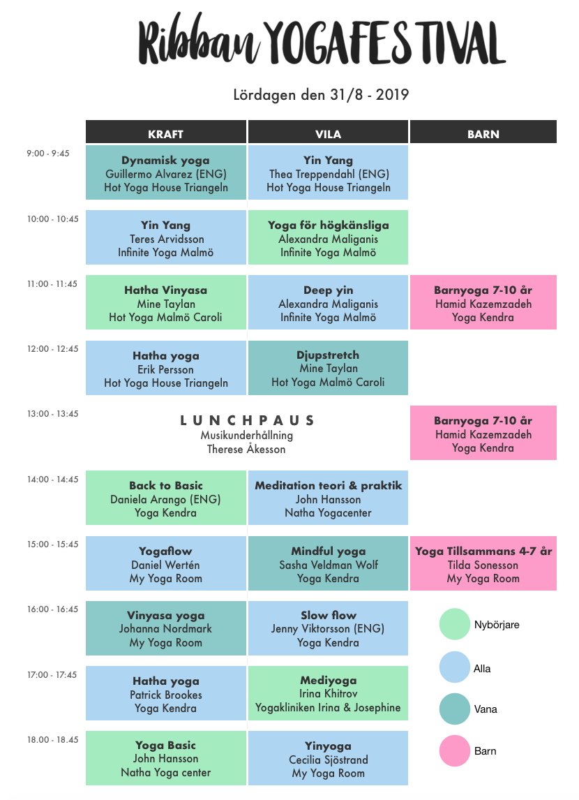 Ribban yogafestival-program 2019